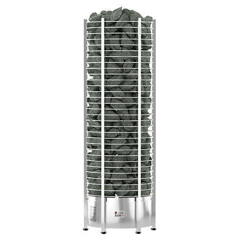 Серия Tower: Электрическая печь SAWO TOWER TH6-120NS-P (12 кВт, выносной пульт, нержавейка, круглая) электрокаменки комплект sawo set002 электрическая печь tower th6 90ni wl пристенная пульт управления innova classic s inc s