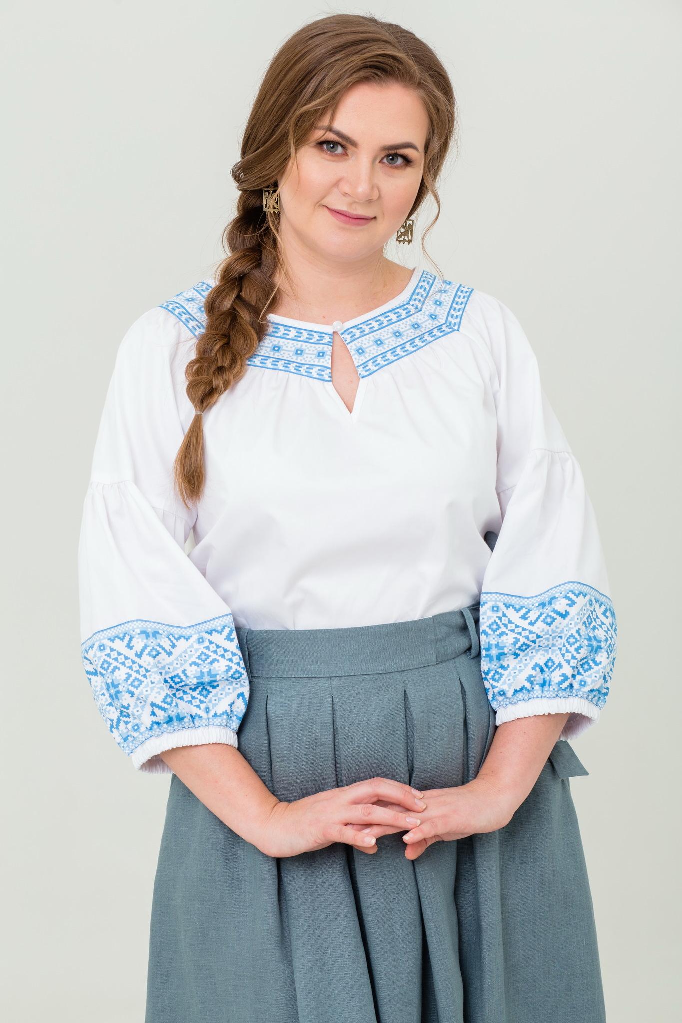 Блуза хлопковая Василиса в русском стиле