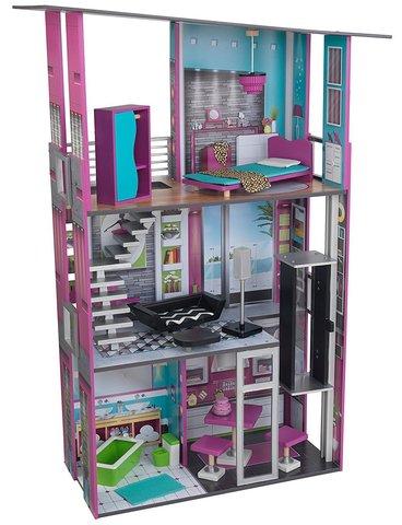 KidKraft Гламурный Glamorous Dollhouse - кукольный домик с мебелью 65192_KE