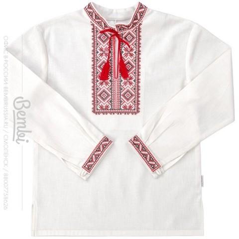 РБ57 Рубашка для мальчика лен