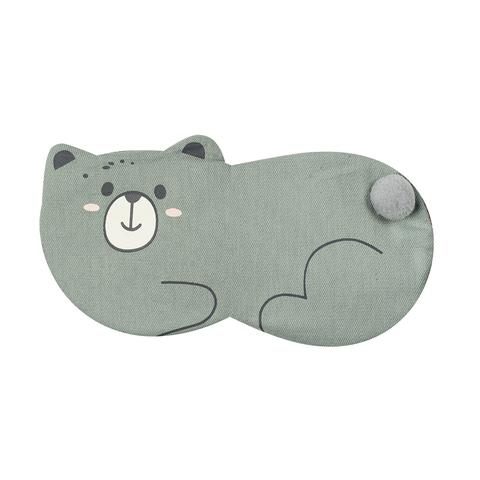 Маска для сна Lying Bear Grey