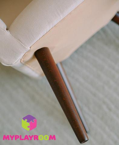 Детское стильное кресло в стиле 60-х, розовое облачко 7