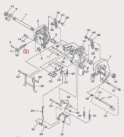 Зажим винтовой для лодочного мотора F9,9 Sea-PRO (21-5)