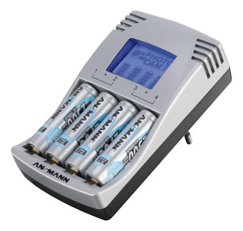 Быстрое Зарядное устройство ANSMANN PhotocamIV (АА,ААА) + 4AA 2500mAh