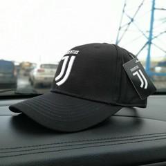Кепка с вышитым логотипом Ювентус (Бейсболка Juventus) черная