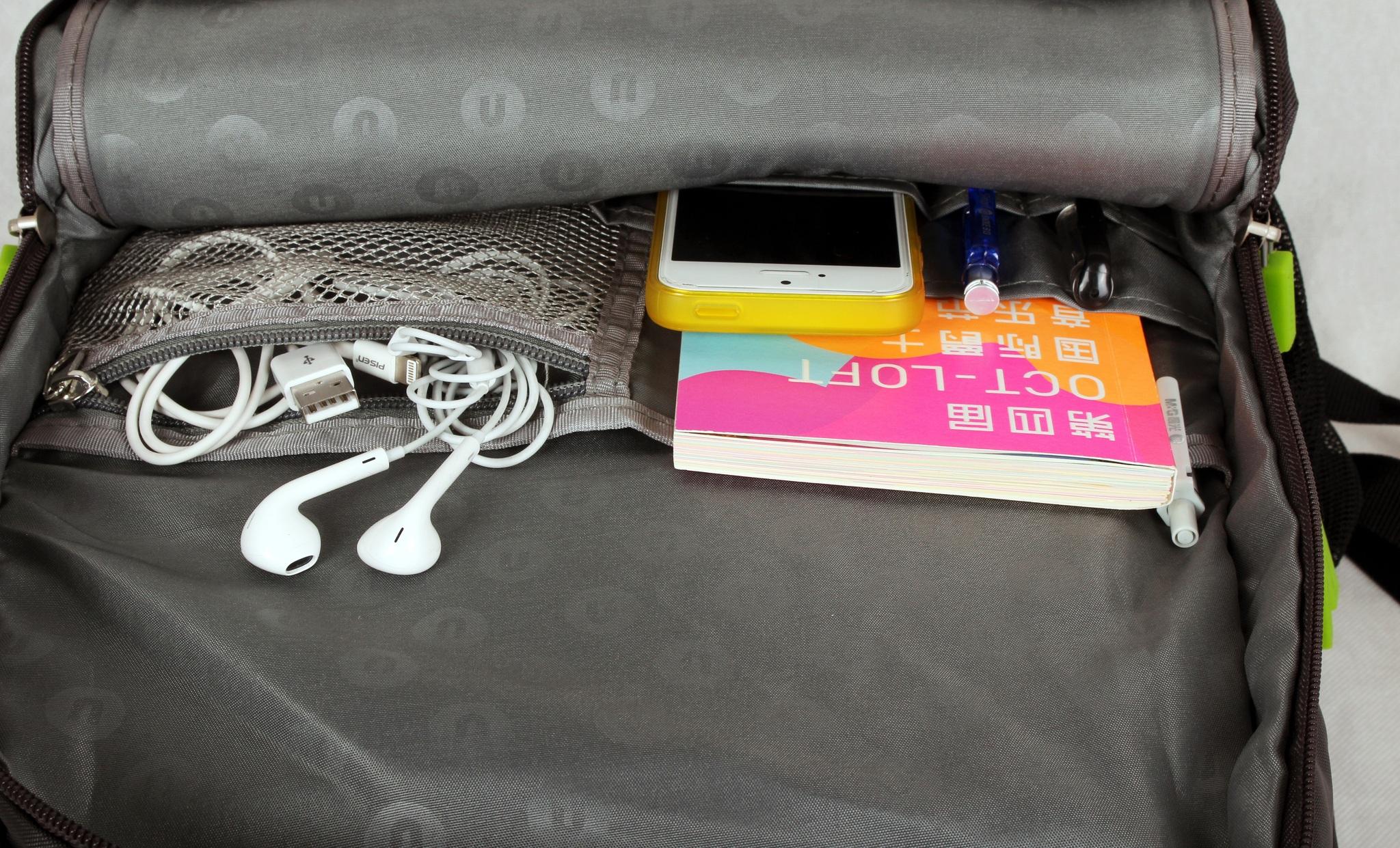 Школьный пиксельный рюкзак Full Screen внутренняя эргономика