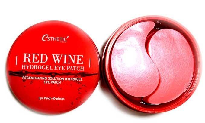 Esthetic House Гидрогел. патчи д/ глаз красное вино Red Wine Hydrogel Eyepatch, 60 шт