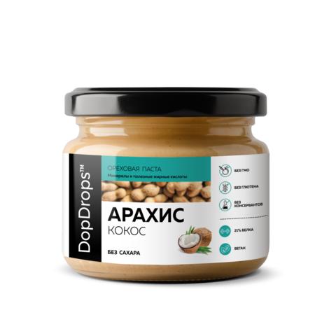 DopDrops Паста Арахисовая с Кокосом [без сахара]