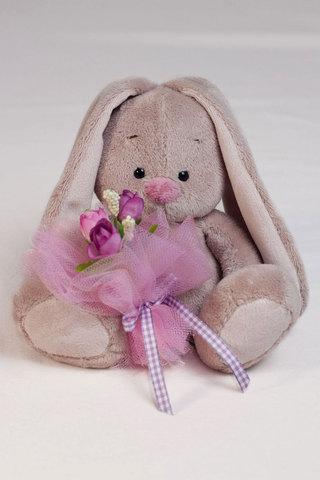 Зайка Ми с фиолетовым букетом (малыш)