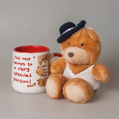 Подарочный набор (чашка+мишка в шляпе) 87435