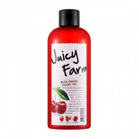 Гель для душа с вишней Missha Juicy Farm Shower Gel Wild Cherry 300ml.