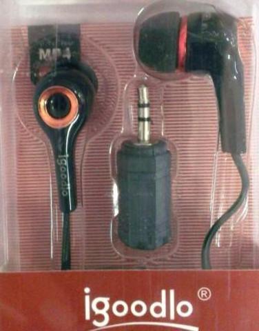 Наушники Igoodlo 5856 черно-розовые 1510-53