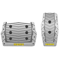 Накладки на педали MOMO Shield (автомат) Aluminum