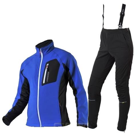 KEEP MOVING VICO разминочный лыжный костюм унисекс синий