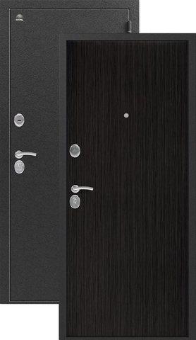 Дверь входная Сибирь S-1, 2 замка, 1 мм  металл, (серебро+венге 3D)