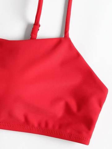 купальник красный с лямками