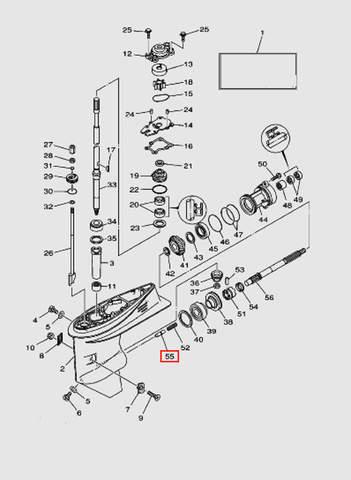 Плунжер для лодочного мотора T40 Sea-PRO (23-55)