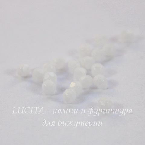 Бусина 2Tiny Шарик с огранкой, 2 мм, белый мел