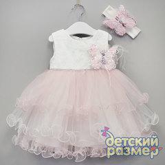 Платье (брошь и повязка пайетки)