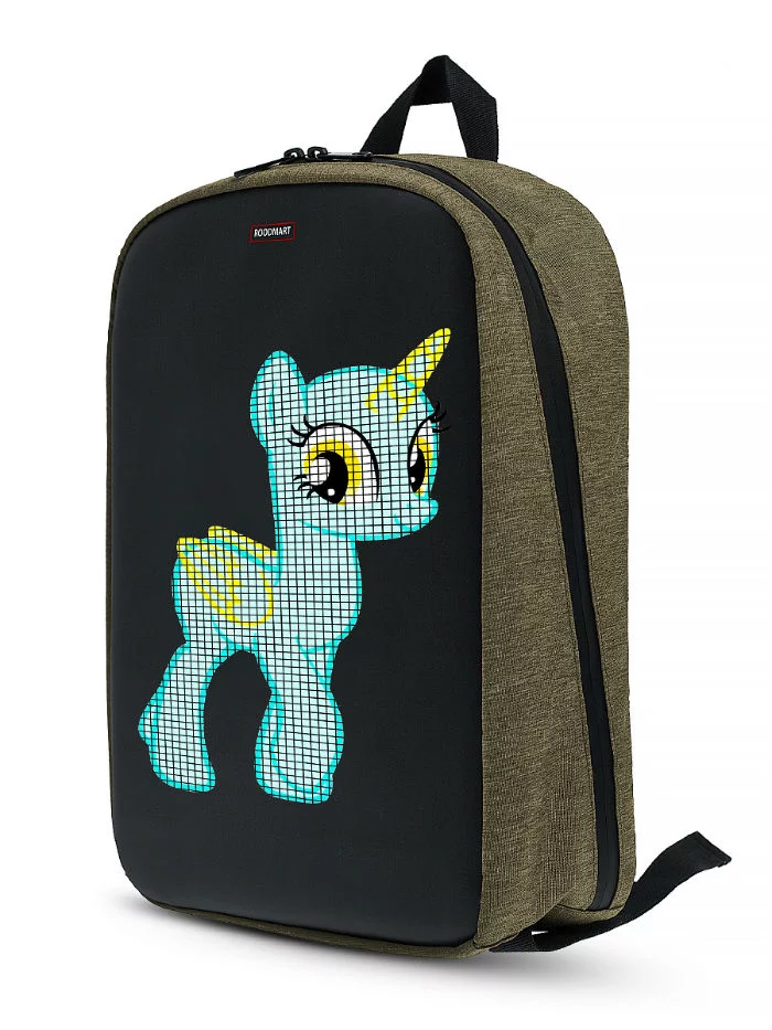 Рюкзак Roodmart с LED дисплеем KHAKI