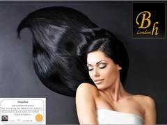 Волосы на плоских кератиновых капсулах,цвет 1-длина 60 CM