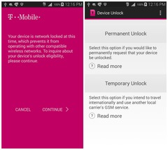 T-Mobile USA - Mobile Device Unlock APP