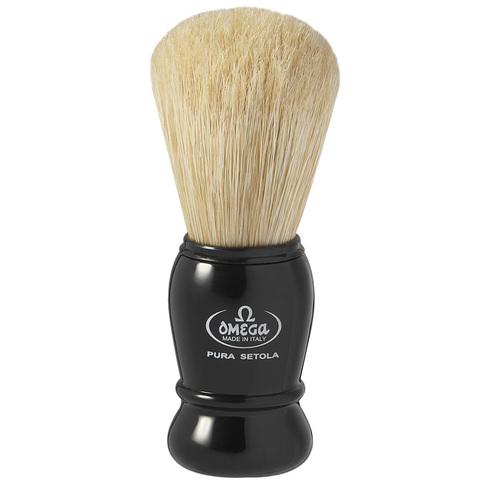 Помазок для бритья Omega натуральный кабан черный 10290