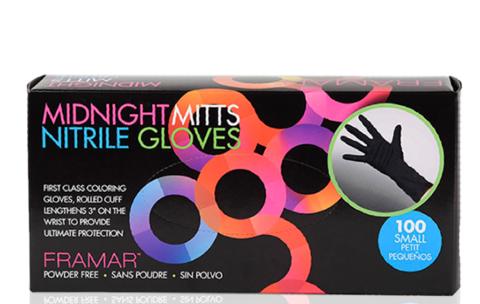 Midnight Mitts Nitrile Gloves   Перчатки черные нитриловые Midnight Mitts, размер S (100шт.)