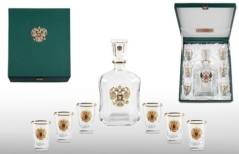 Коллекционный набор для водки с графином «Золото Руси»