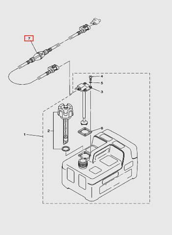 Шланг топливный с грушей для лодочного мотора T5 Sea-PRO (12-7)