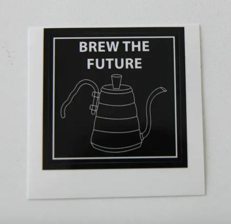 Наклейки brew the future (чайник)