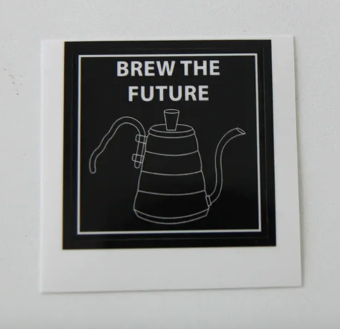 Наклейки brew the future (чайник)