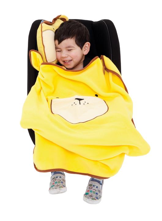 детский TRUNKI Дорожный набор Подушка с пледом