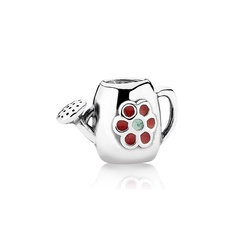 Silver Blooming Watering Can Charm