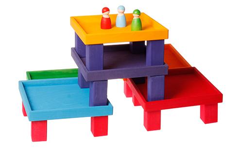 Набор коробочек цвета радуги