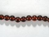 Бусина из граната оранжевого, шар гладкий 4 мм