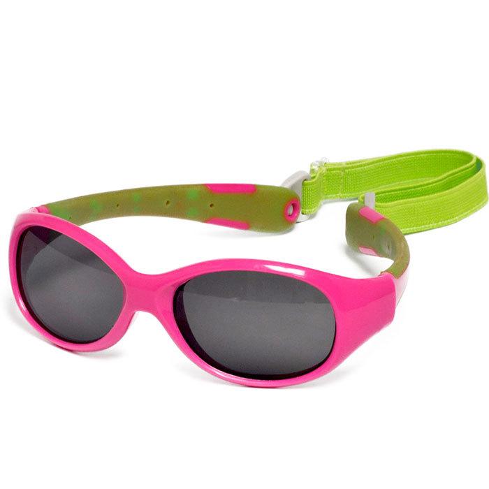547328840420 Солнечные очки для малышей Real Kids 0+ (с дужками гибкие) розовый салатовый