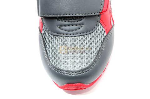 Светящиеся кроссовки Хот Вилс (Hot Wheels) на липучках для мальчиков, цвет серый красный. Изображение 12 из 14.