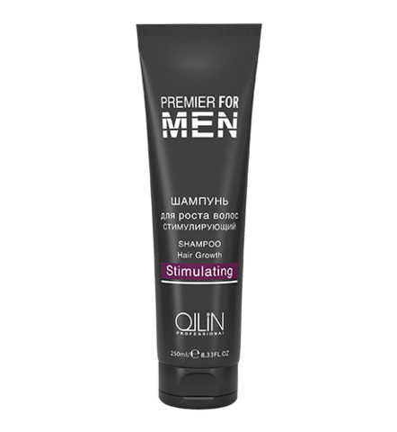 OLLIN premier for men шампунь для роста волос стимулирующий 250мл/ shampoo hair growth stimulating
