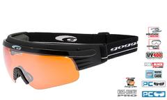 Лыжные очки-маска Goggle Shima Black-Orange + Линза радуга