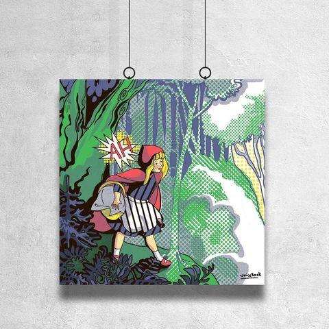 Картина «Красная Шапочка» 30х30см или 80х80см