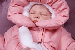 Зимний комбинезон для новорождённых Вьюга розовый