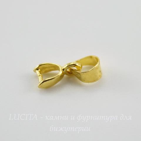 Держатель кулона - петелька 8х4х2 мм (цвет - золото)
