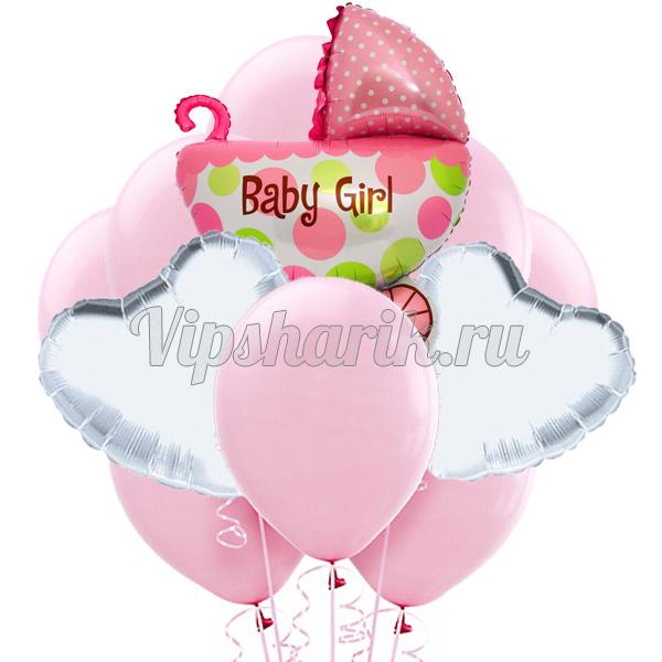 Букет «Колясочка для девочки»