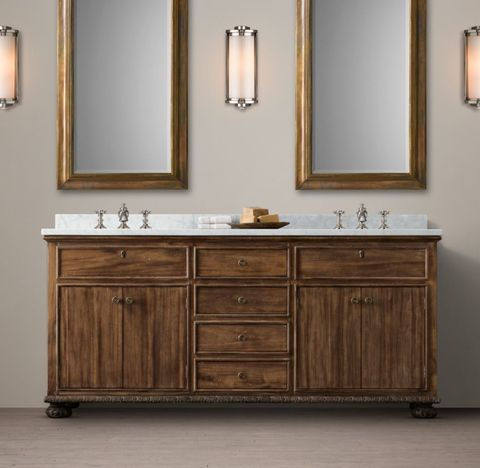 French Empire Double Vanity