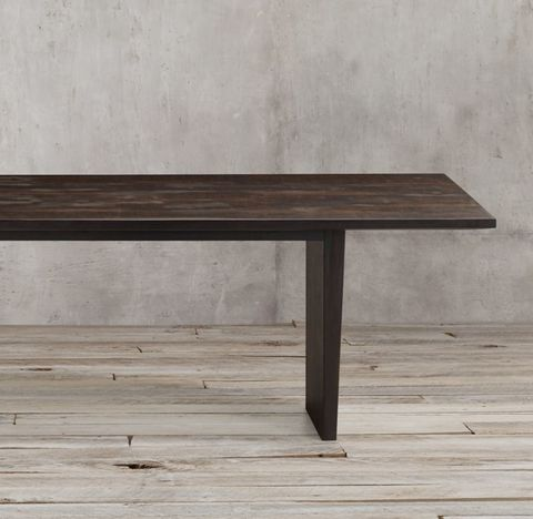 Wyeth Split Bamboo Floating Rectangular Extension Dining Table