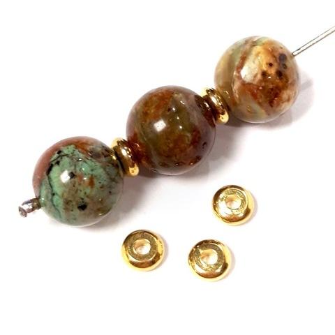Рондель разделитель 5 мм цвет золото