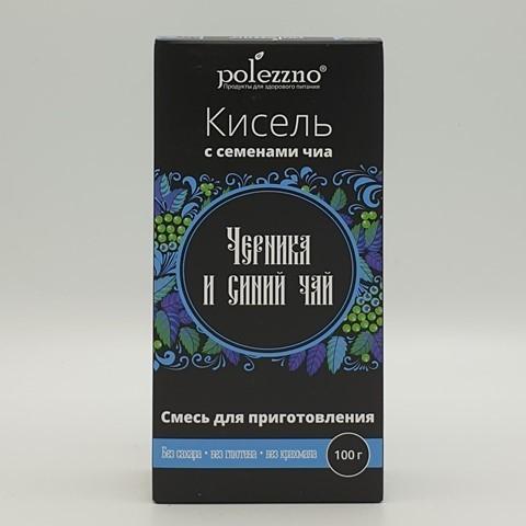 Кисель Черника и синий чай POLEZZNO