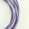 Шнур (нат. кожа), 1,5 мм, цвет - фиолетовый, примерно 1 м