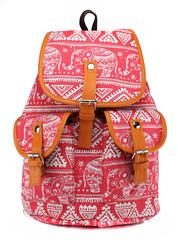Молодежный рюкзак Слоны Розовый
